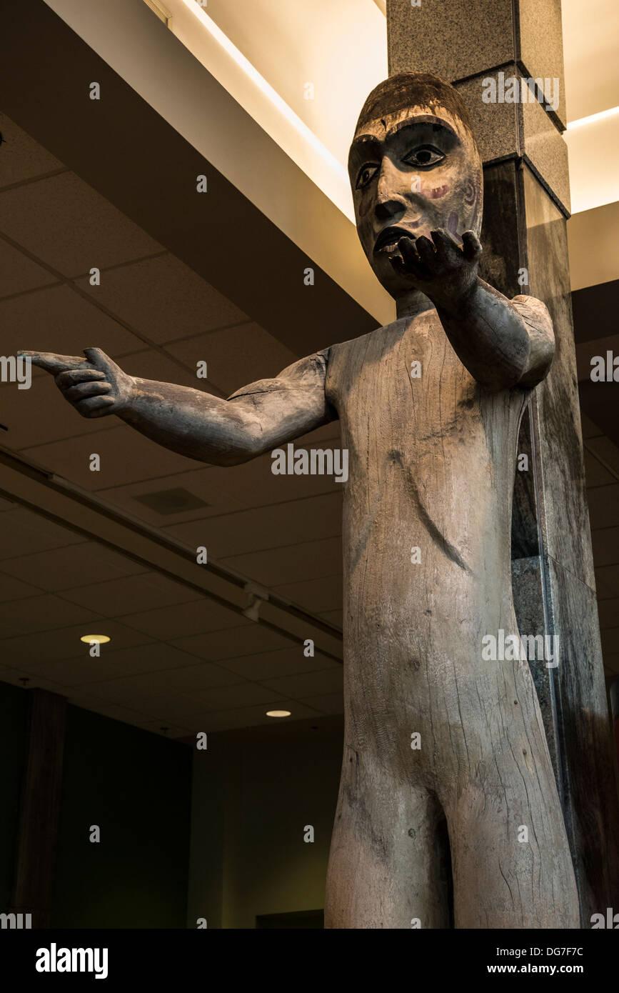 Welcoming Figure,  Royal British Columbia Museum, Victoria, Vancouver Island, British Columbia, Canada - Stock Image