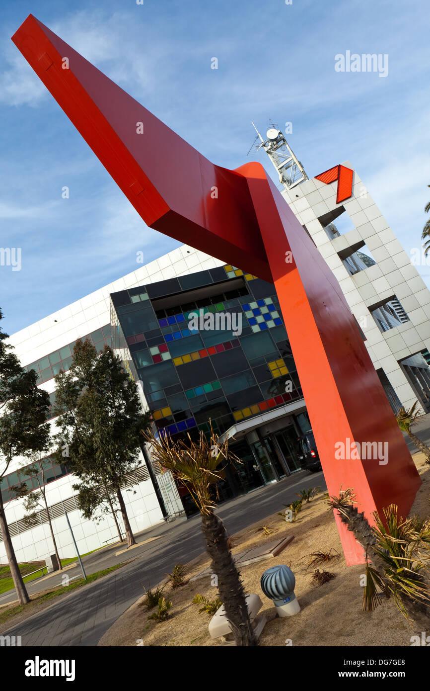 Channel 7 building, Docklands Melbourne - Stock Image