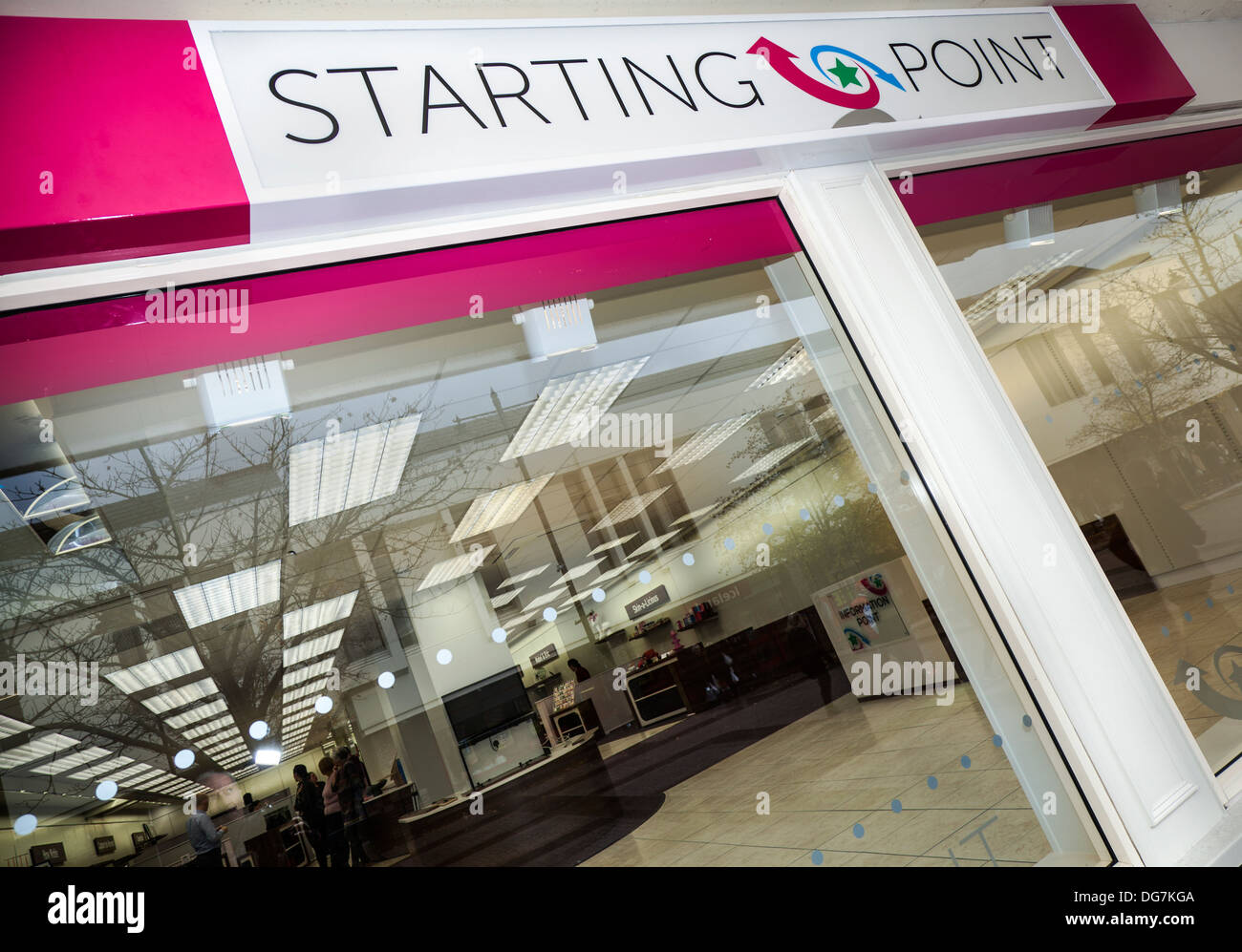 Starting Point is an innovative scheme launched by Town Centre Activities, a regeneration company for business start-ups Airdrie, North Lanarkshire,UK - Stock Image
