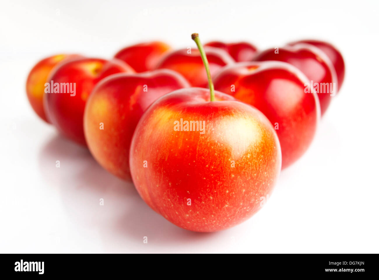 Plum Fruit Isolated Gourmet Purple Dietary Fiber Food Color Image Organic Nature Raw Season Food And Drink Concepts And Ideas - Stock Image