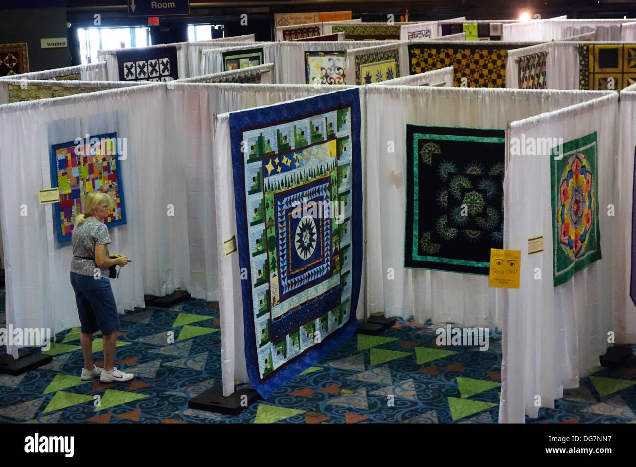 quilt show Stock Photo