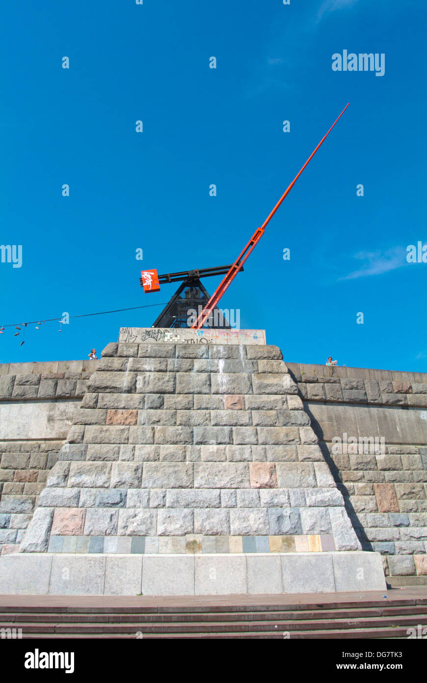 Metronome (1991) Letenske sady park Bubenec district Prague Czech Republic Europe - Stock Image