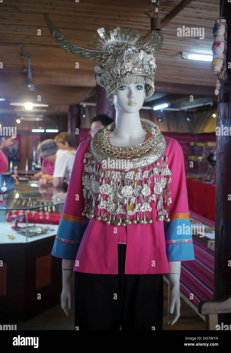 China, Guangxi Province, Guilin, manikin with traditional dress Stock Photo