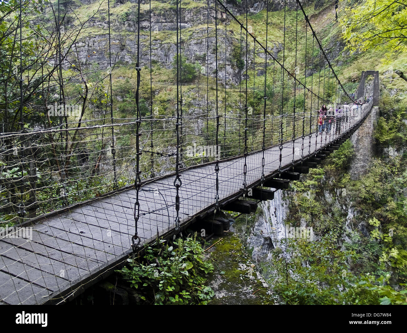 Footbridge At Gorges D Holzarte Larrau Pyrenees