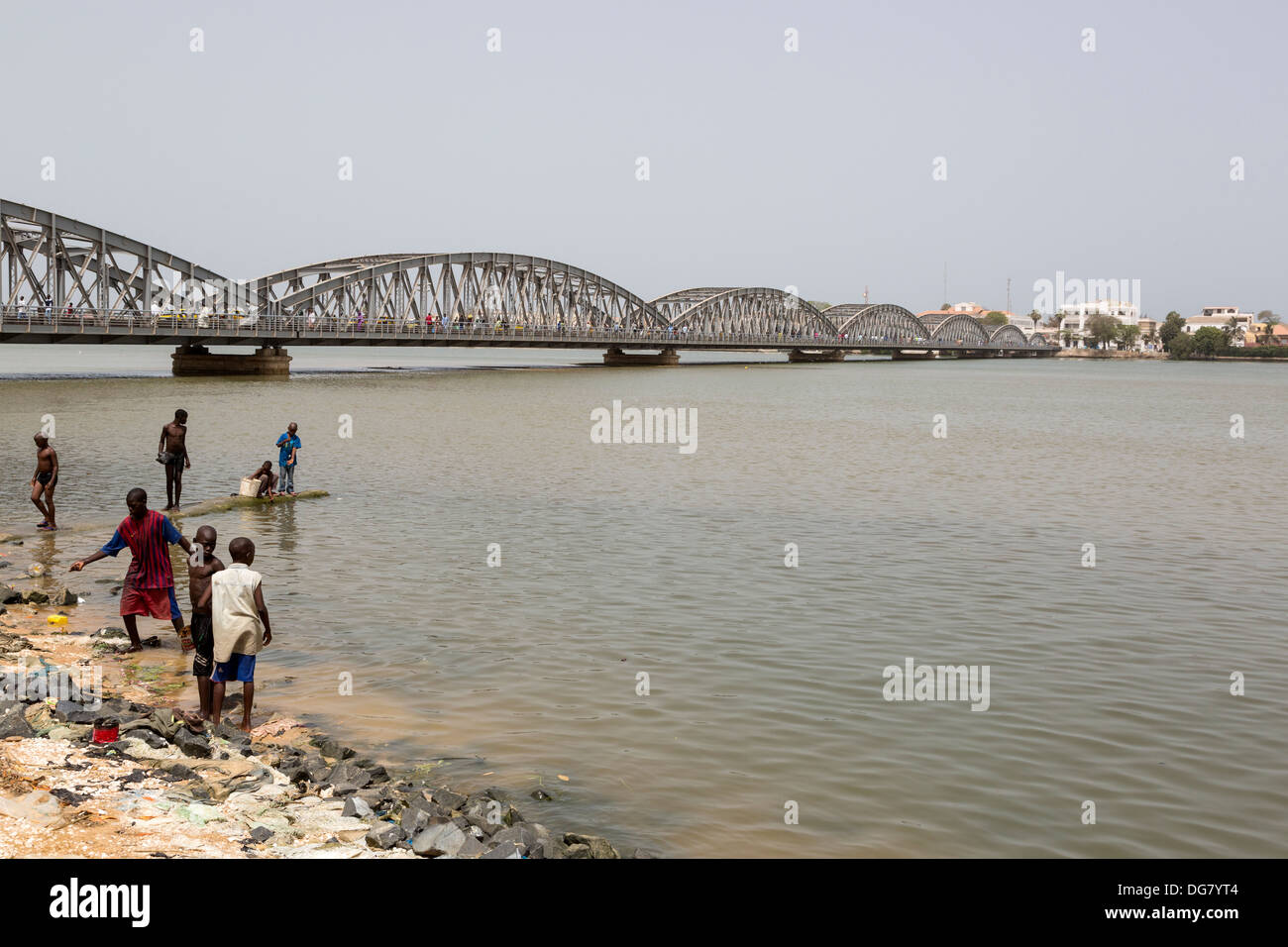 Senegal, Saint Louis. Pont Faidherbe Bridge over the River Senegal, Built 1897. - Stock Image