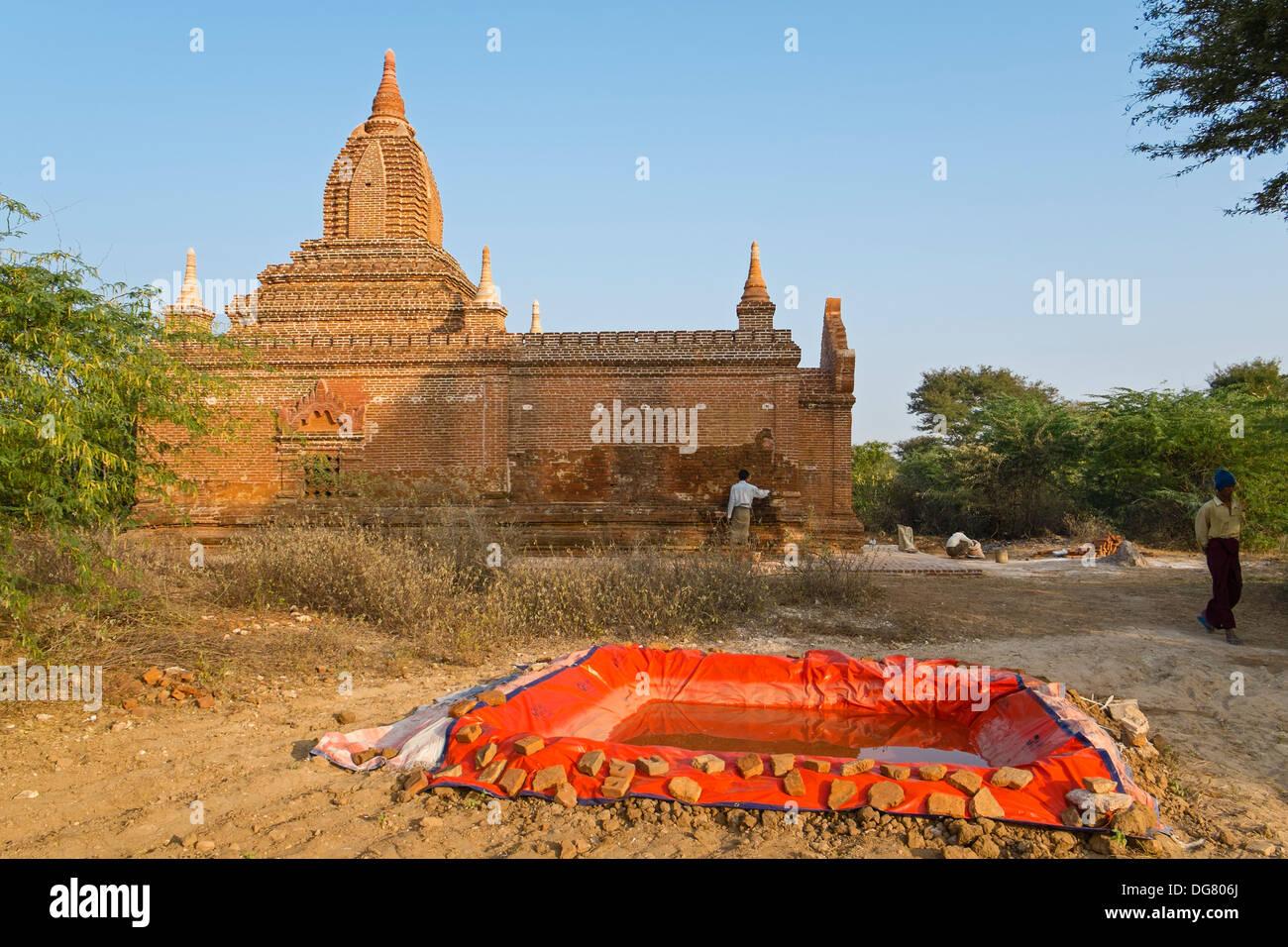 Restoration, Bagan, Myanmar, Asia Stock Photo