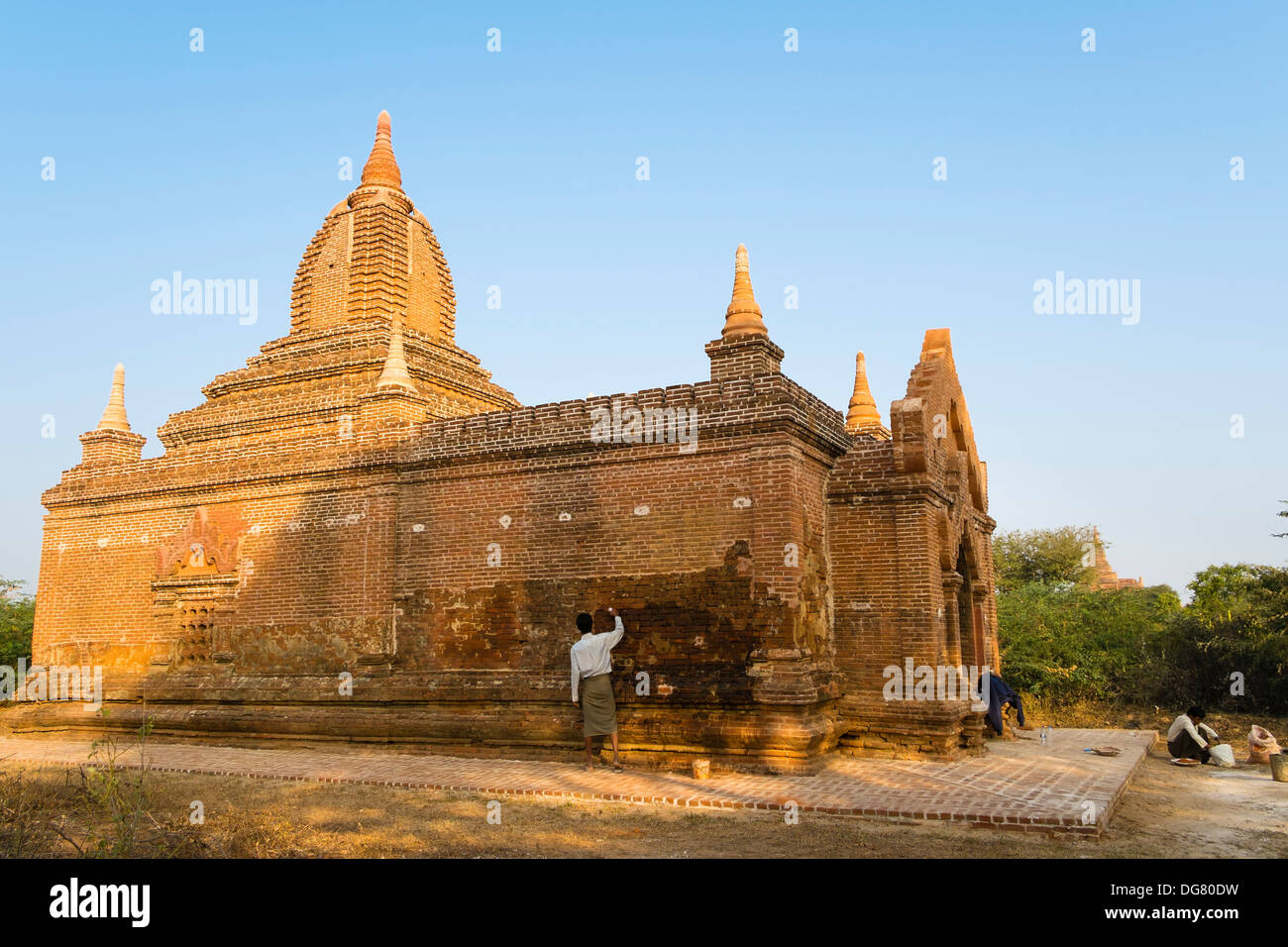 Restoration, Bagan, Myanmar, Asia - Stock Image