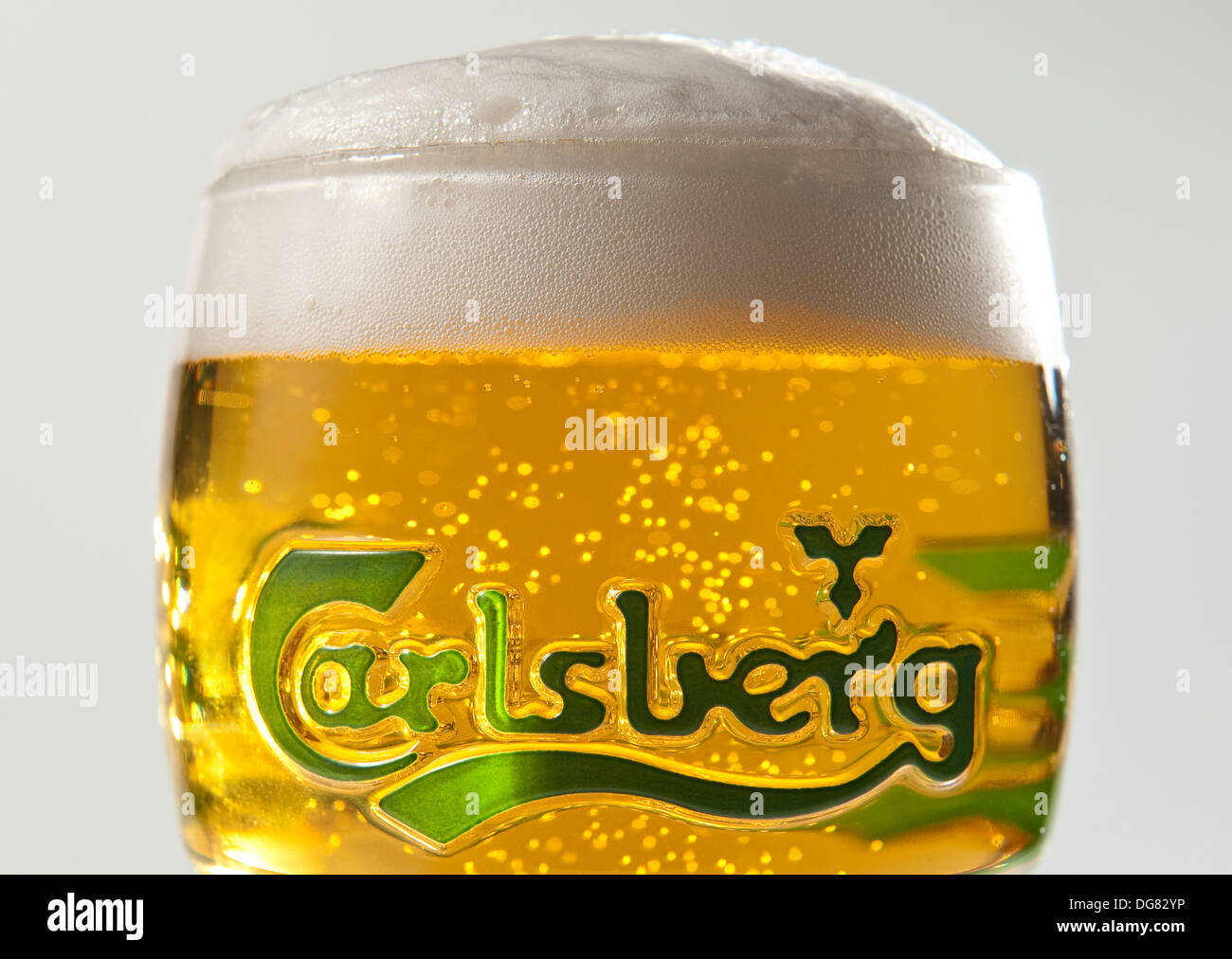 Beer - Carlsberg lager . Probably the best lager in the world. - Stock Image