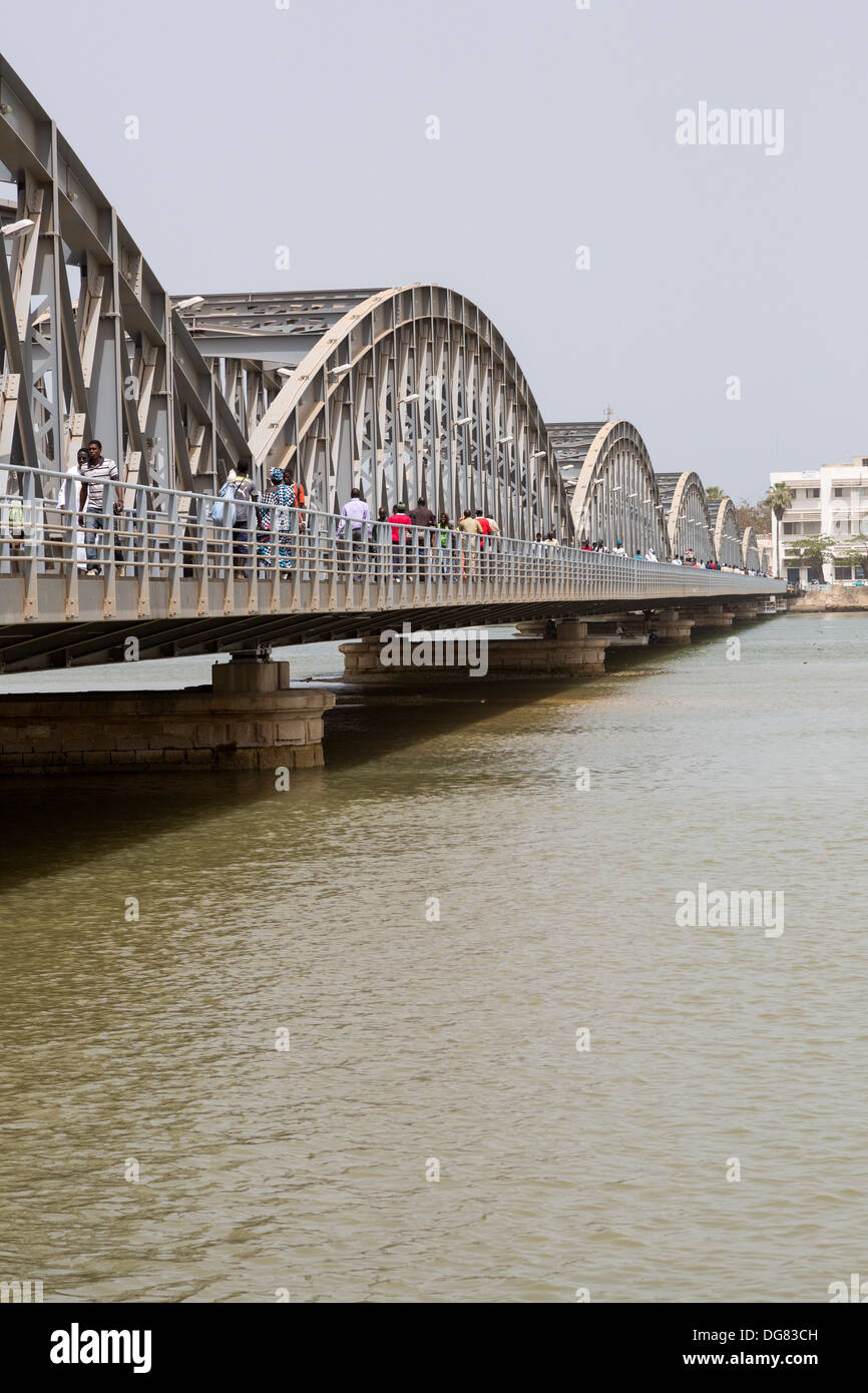 Senegal, Saint Louis. Pont Faidherbe, Bridge over the River Senegal. Built 1897. - Stock Image