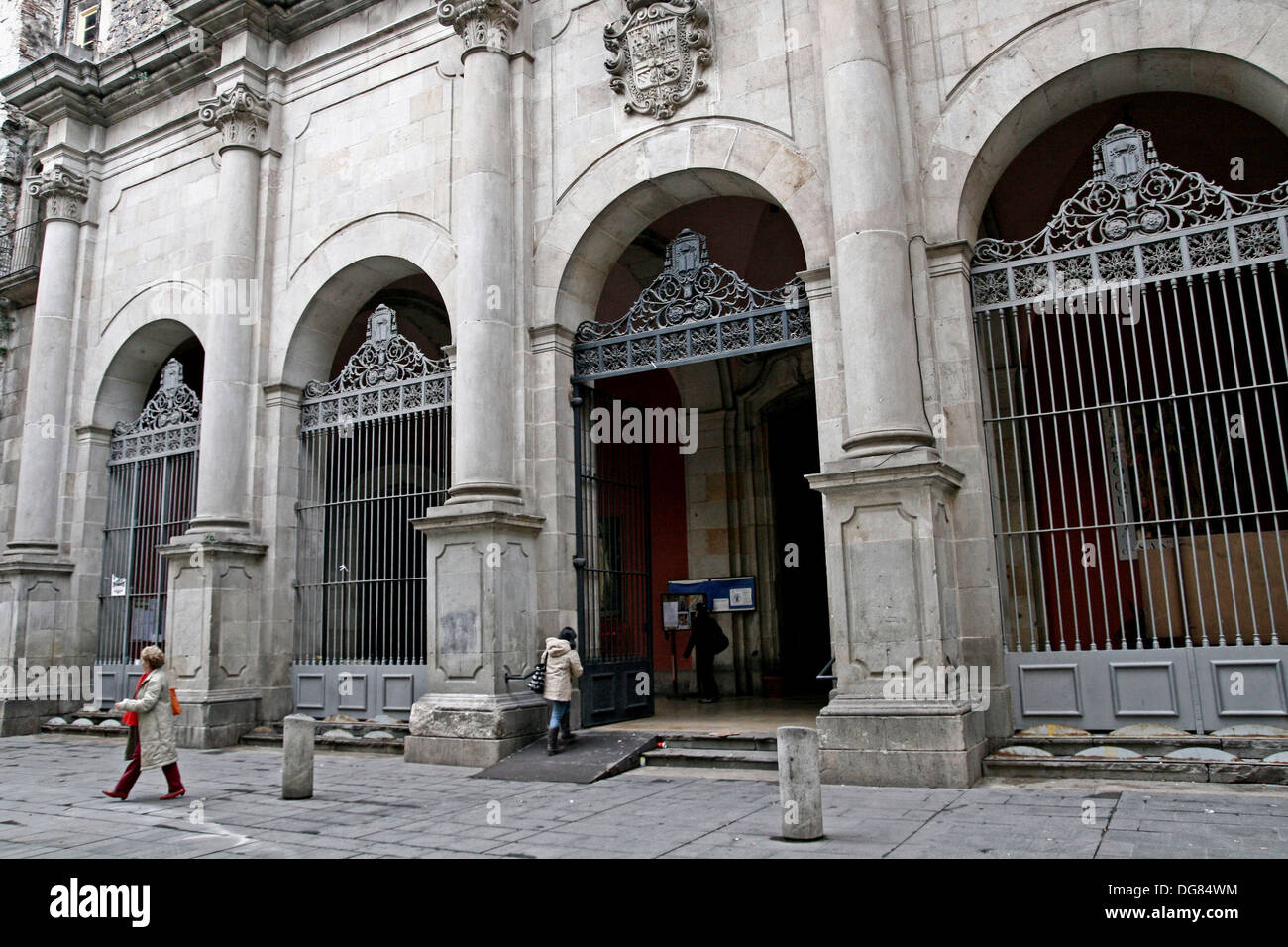 Church of Sant Agusti, Baroque, arq Pere Bertran, Barcelona, Catalonia, Spain - Stock Image