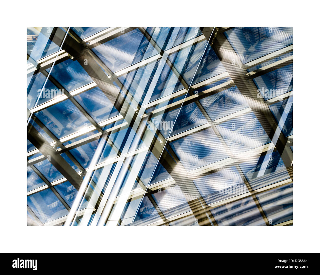 Architecture abstract reflection - Stock Image