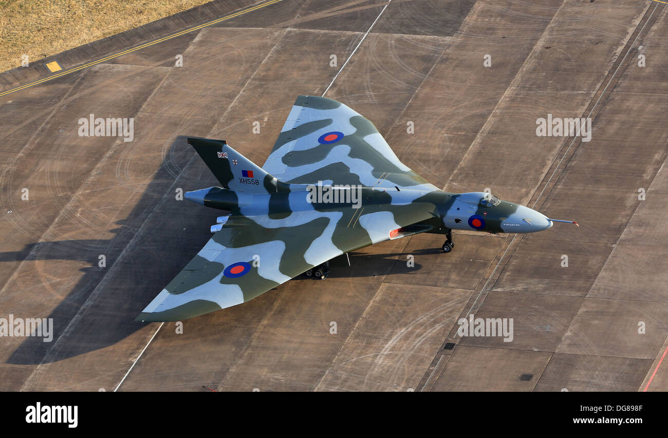 Avro Vulcan XH558 on the ramp at Fairford during RIAT 2013 - Stock Image