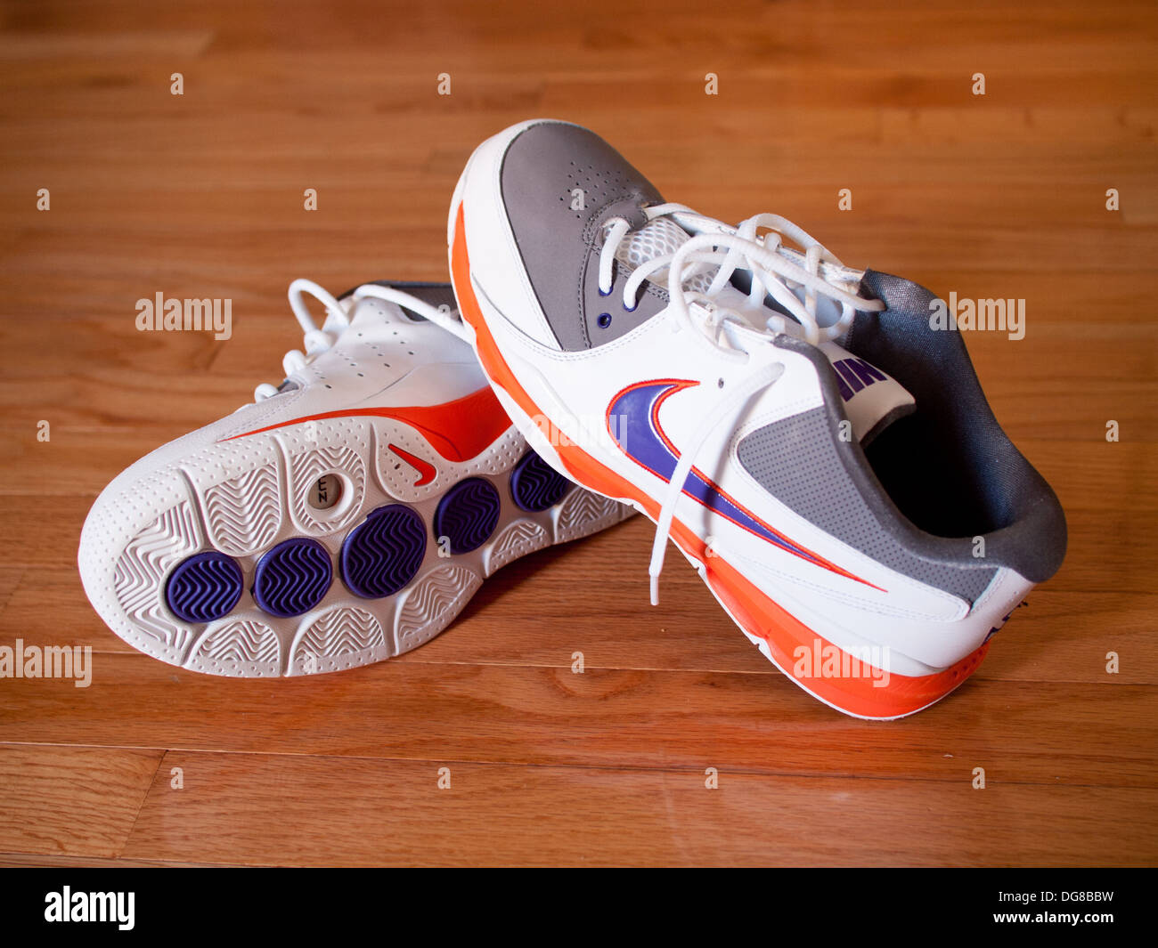 A pair of Nike Zoom Go Low Steve Nash men's basketball shoes. - Stock Image