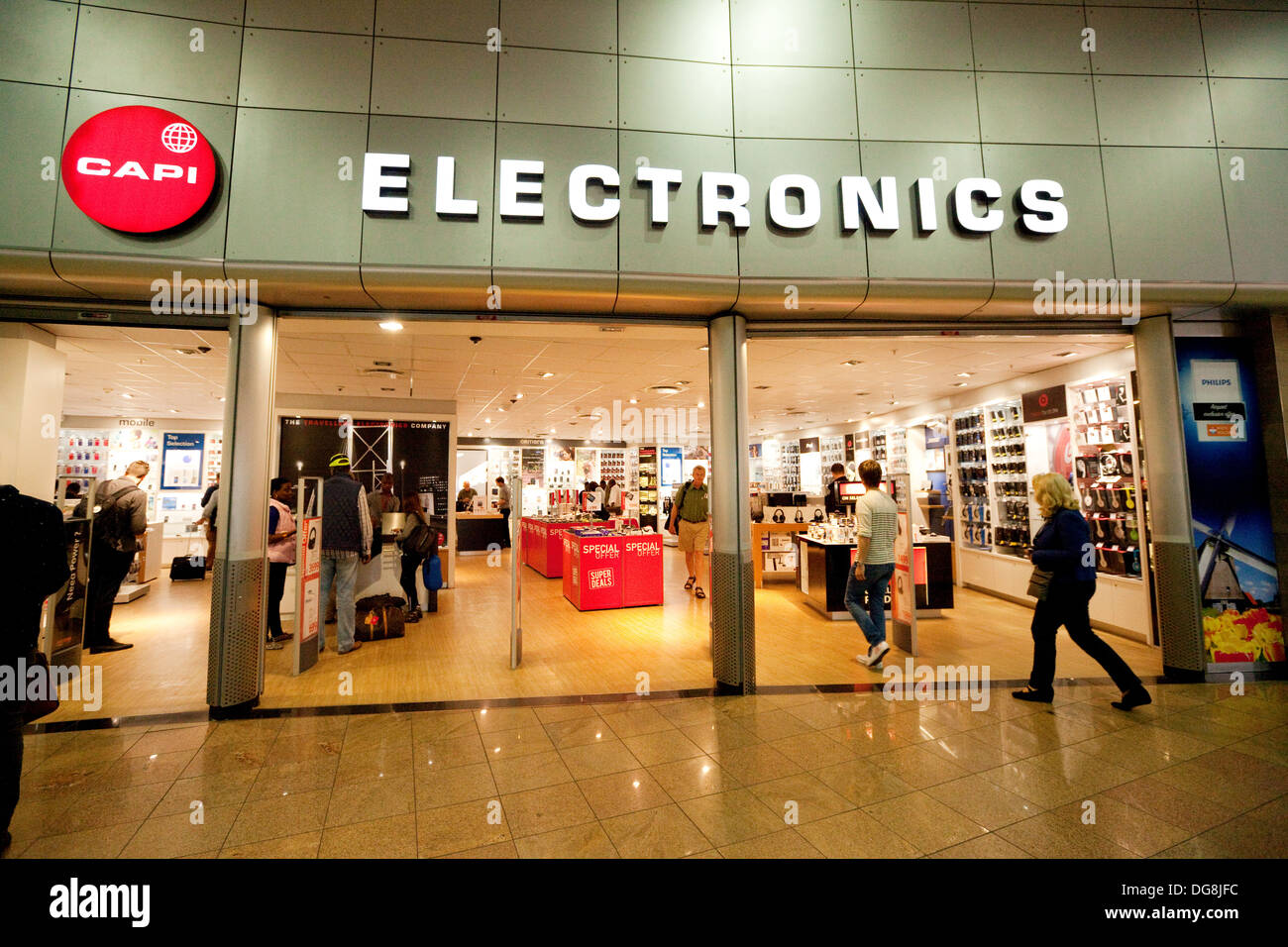 Capi Electronics store, Departure lounge, Johannesburg airport terminal, South Africa - Stock Image
