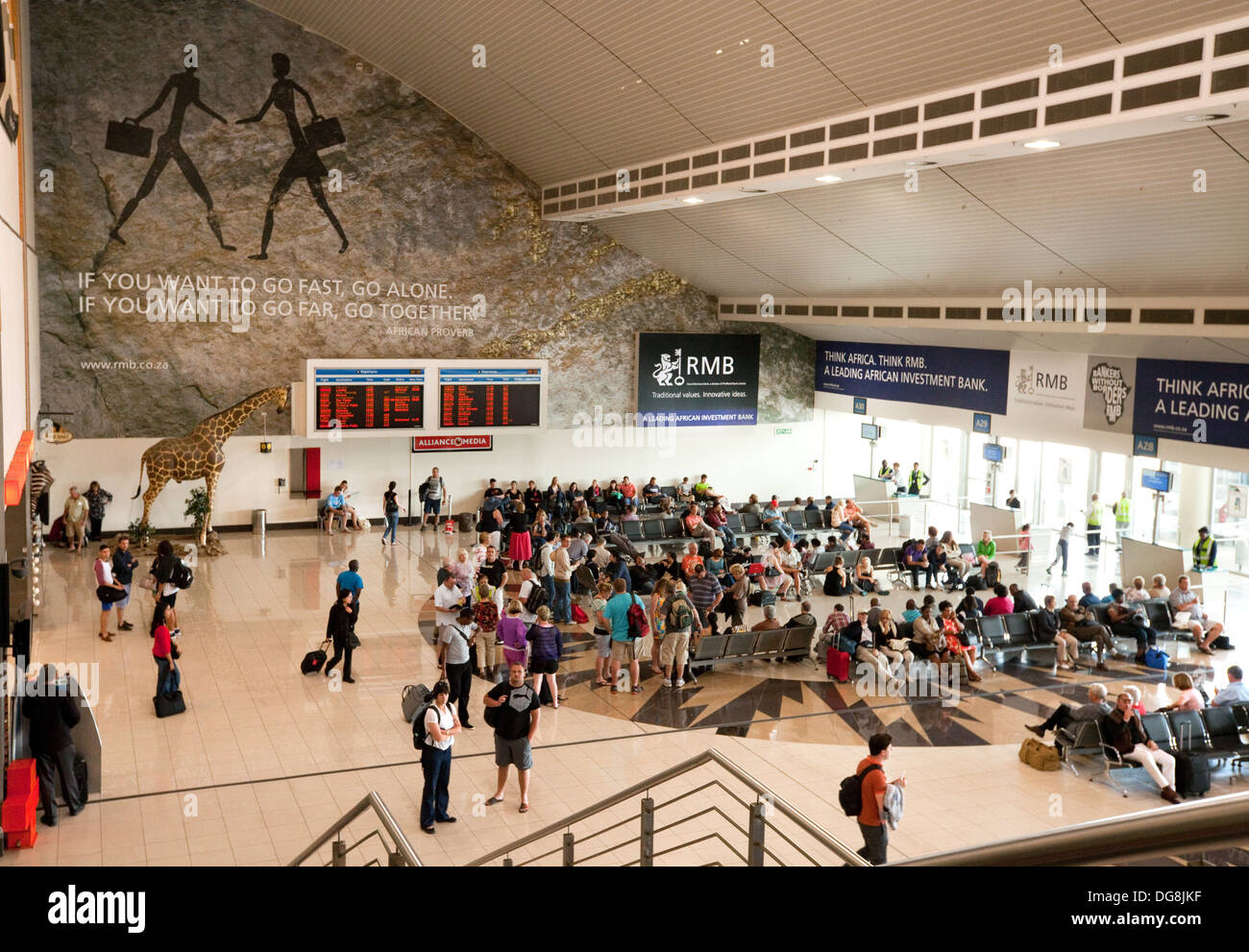 Departure lounge, O. R. Tambo International Airport, ( Johannesburg airport,),  South Africa - Stock Image
