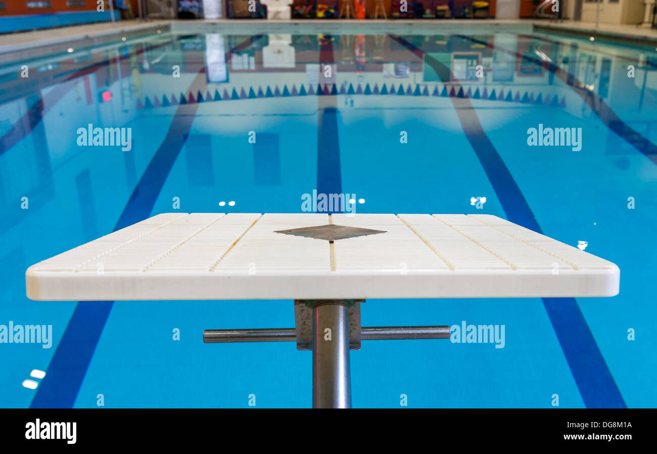 A diving board and a swimming pool Stock Photo: 61656934 - Alamy