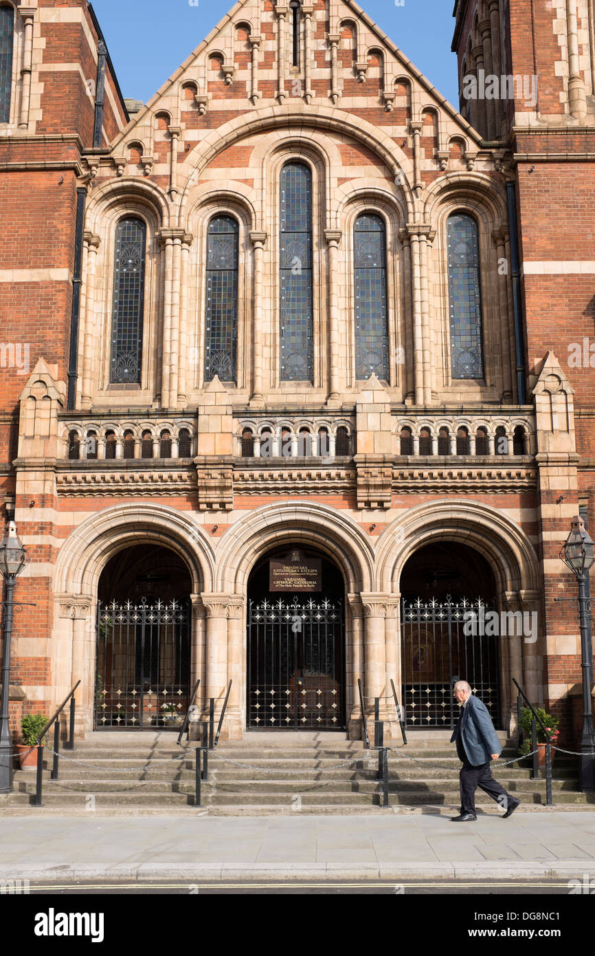 Ukranian Catholic Cathedral of the Holy Family in Exile  London - Stock Image