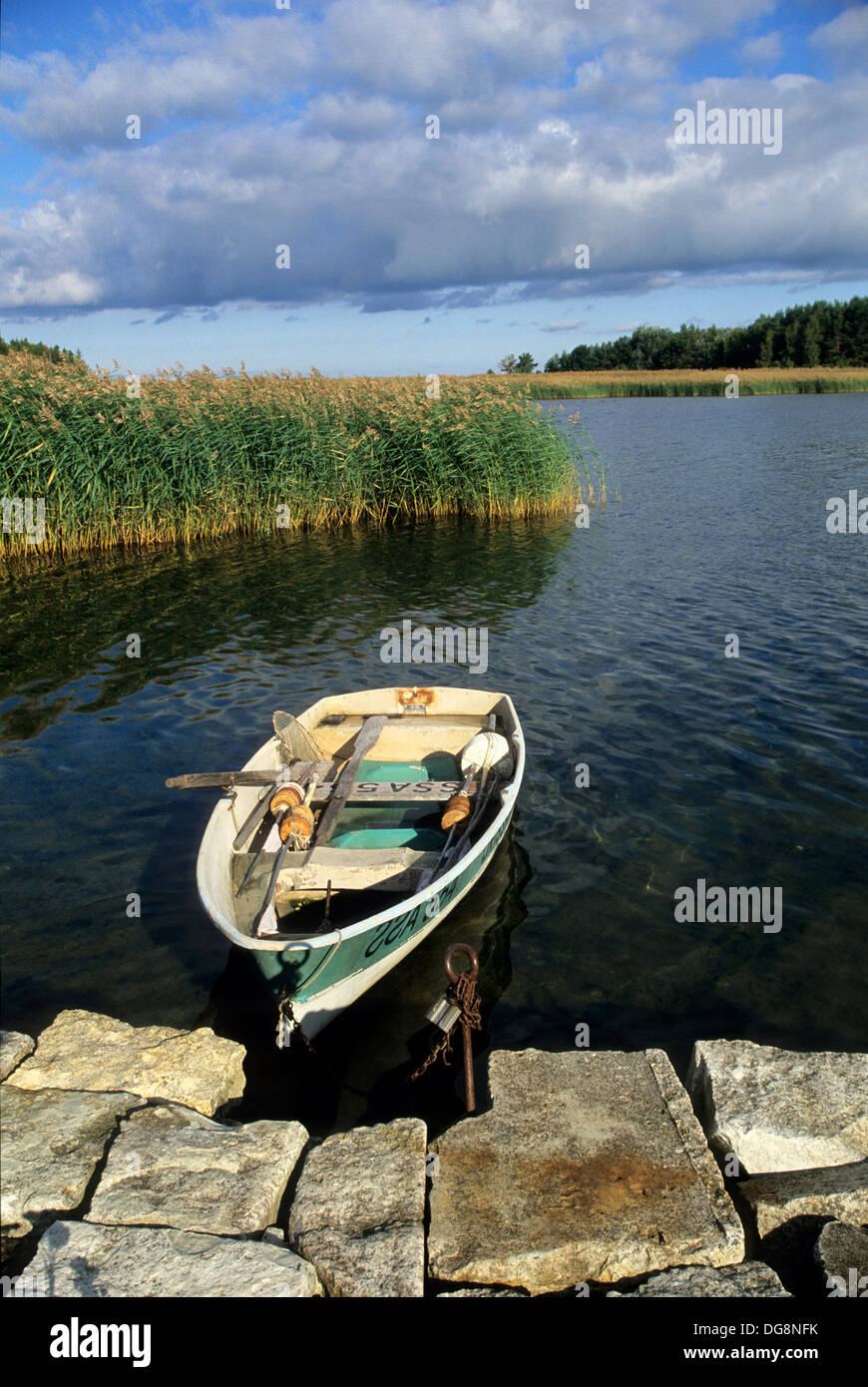 barque,Orissaare,ile de Saaremaa,region de Saare,Estonie,pays balte,europe du nord - Stock Image