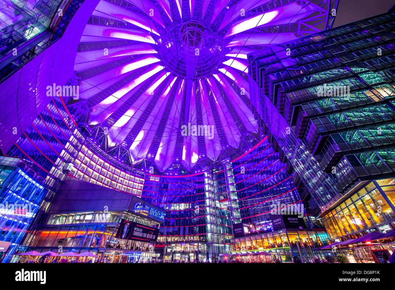 Sony Center in Berlin, Germany. Stock Photo