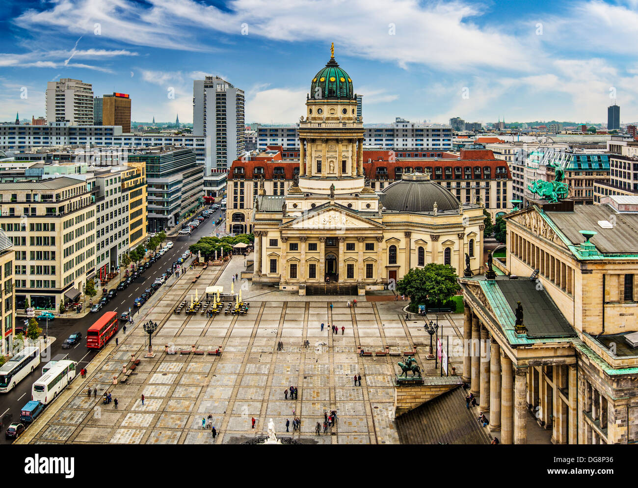 Historic Gendarmenmarkt Square in Berlin, Germany. - Stock Image