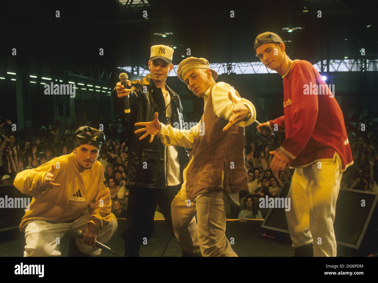 E-17 (later East 17) UK pop group about 1998 - Stock Image