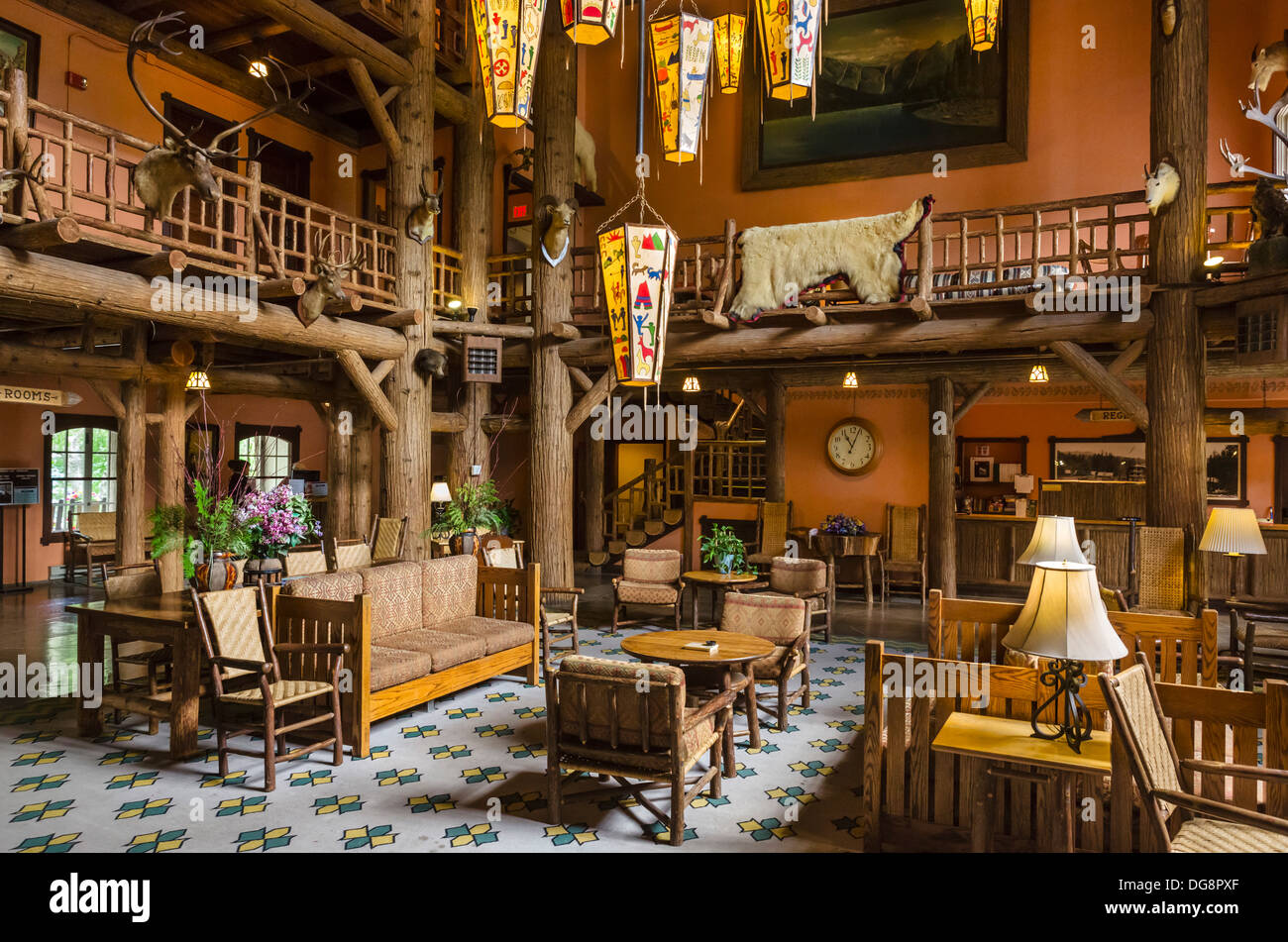 Lake Mcdonald Lodge >> Lobby Of Lake Mcdonald Lodge Lake Mcdonald Glacier National Park