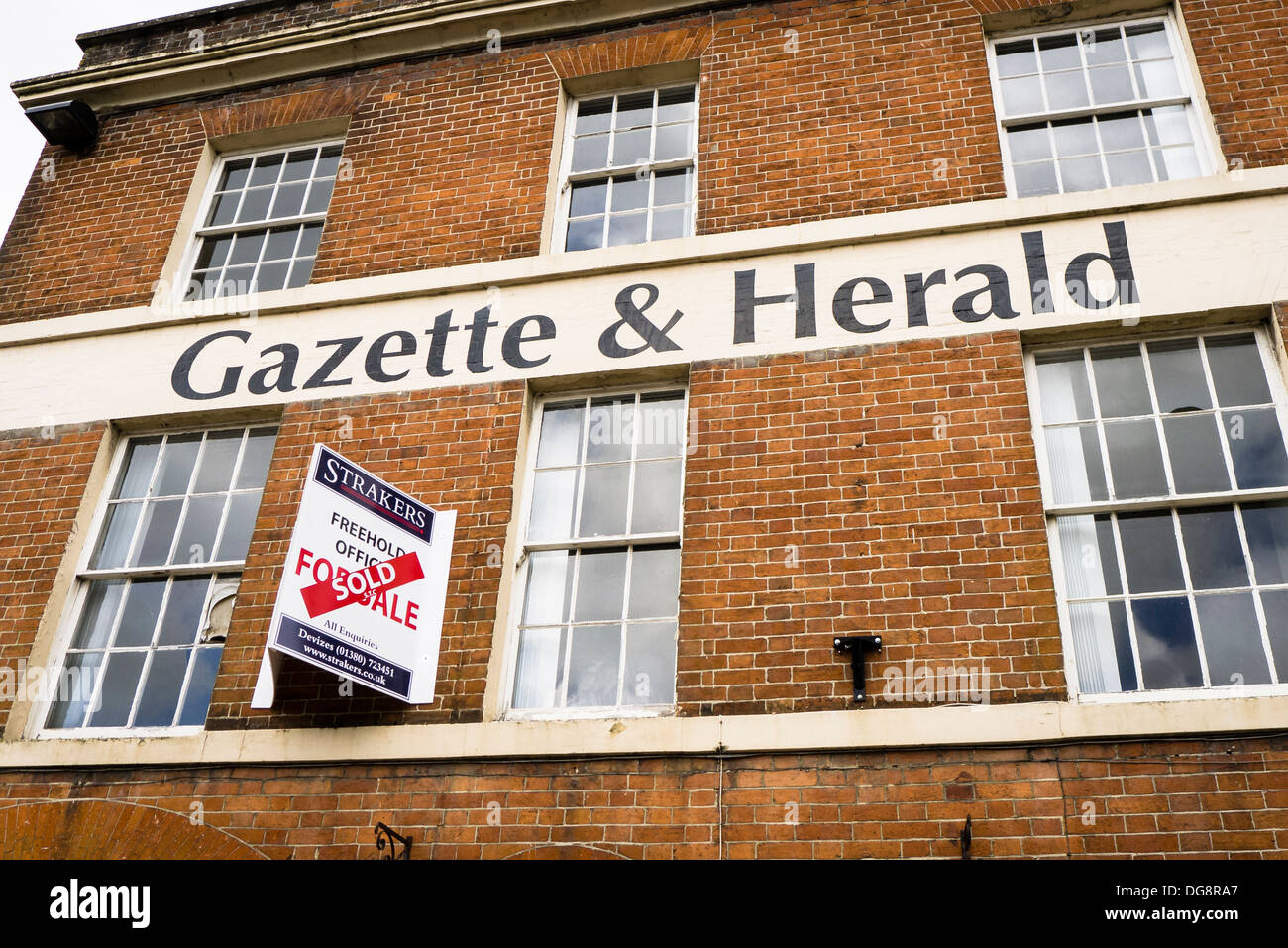 Former offices of regional newspaper Gazette and Herald sold in Devizes UK Stock Photo