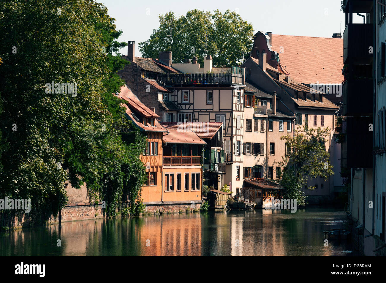 Elk213 1078 France, Alsace, Strasbourg, La Petite France, Canal With Half
