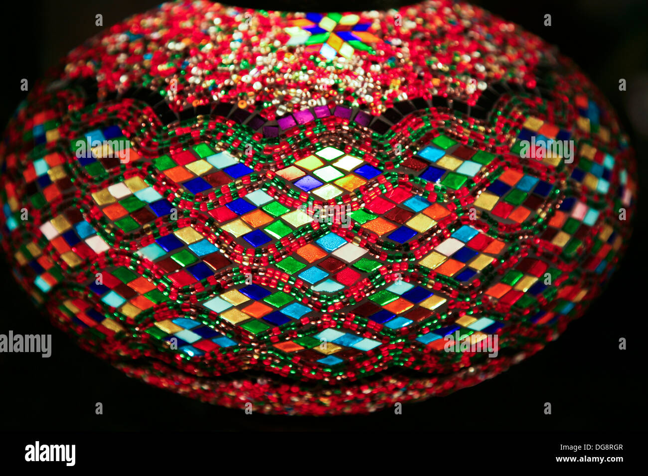 Abstract Multicolour Shapes Of Colorful Red Stained Glass Round Globe Stock Photo Alamy