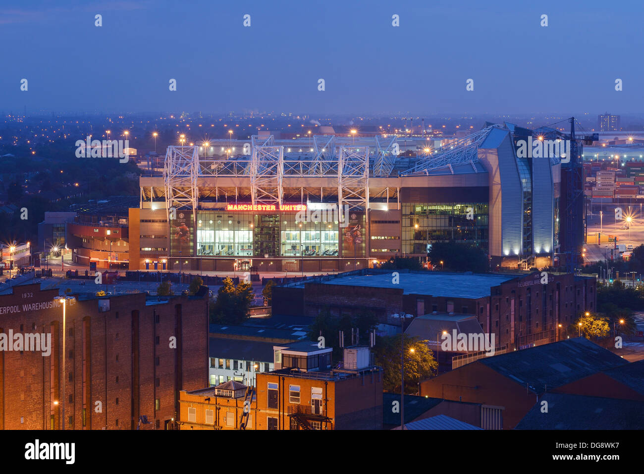 Manchester United Old Trafford football stadium UK - Stock Image