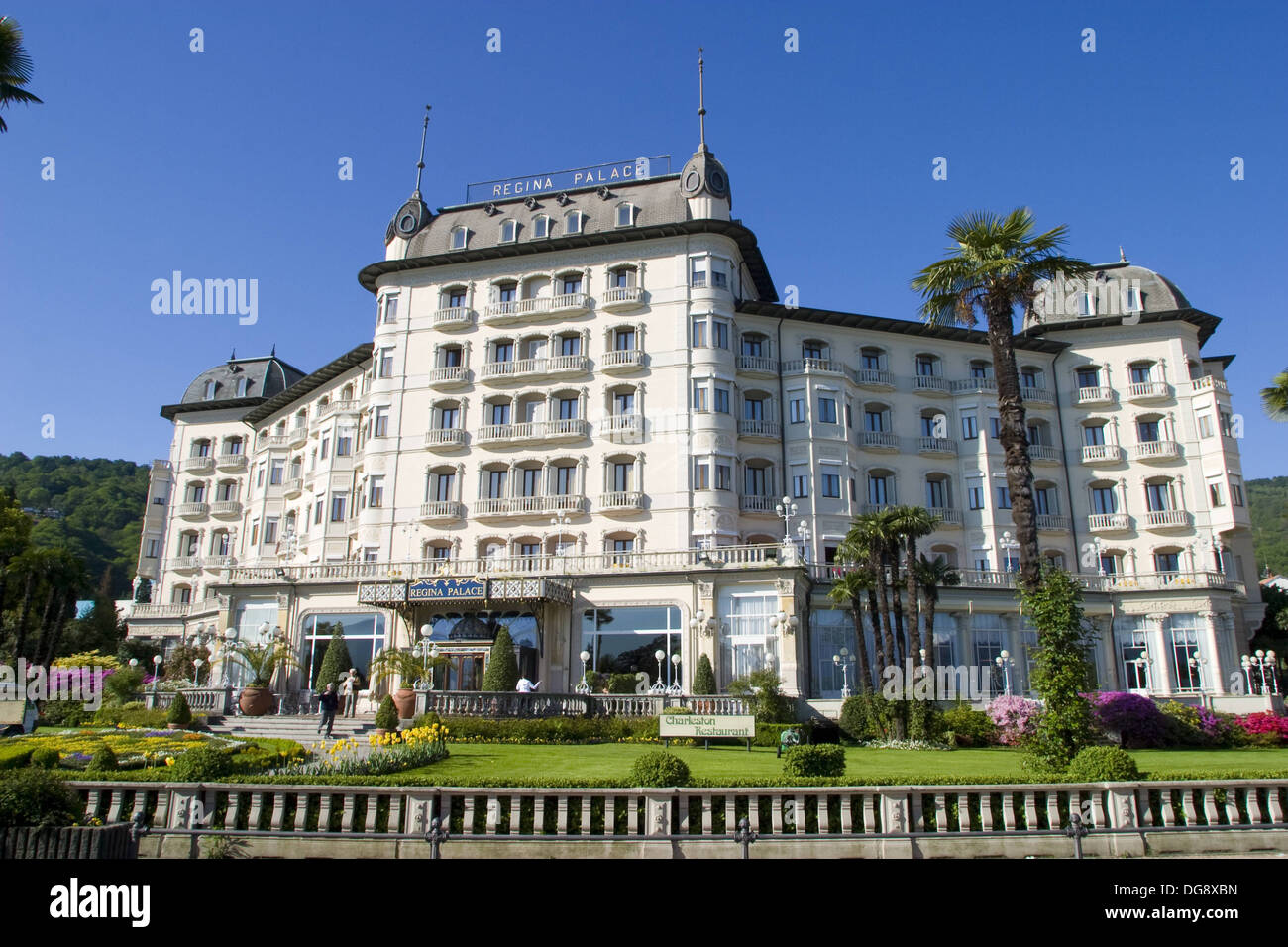 Regina Palace Hotel Stresa Lake Maggiore Italy Stock Photo Alamy