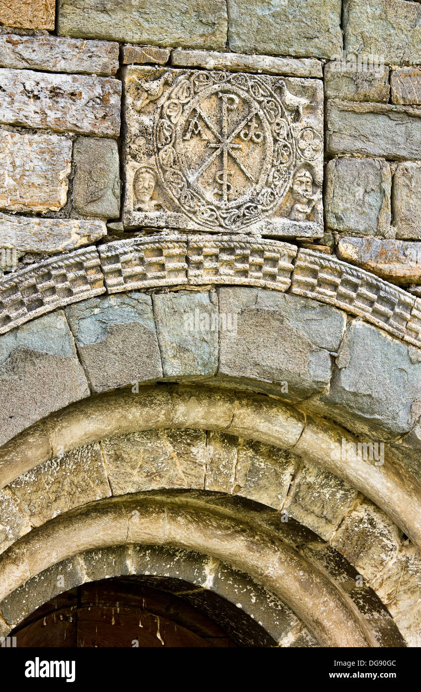 chirho on the cover of the romanesque church of the