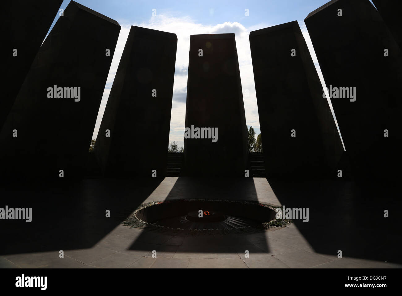 Armenia, genocide memorial, Yerevan - Stock Image
