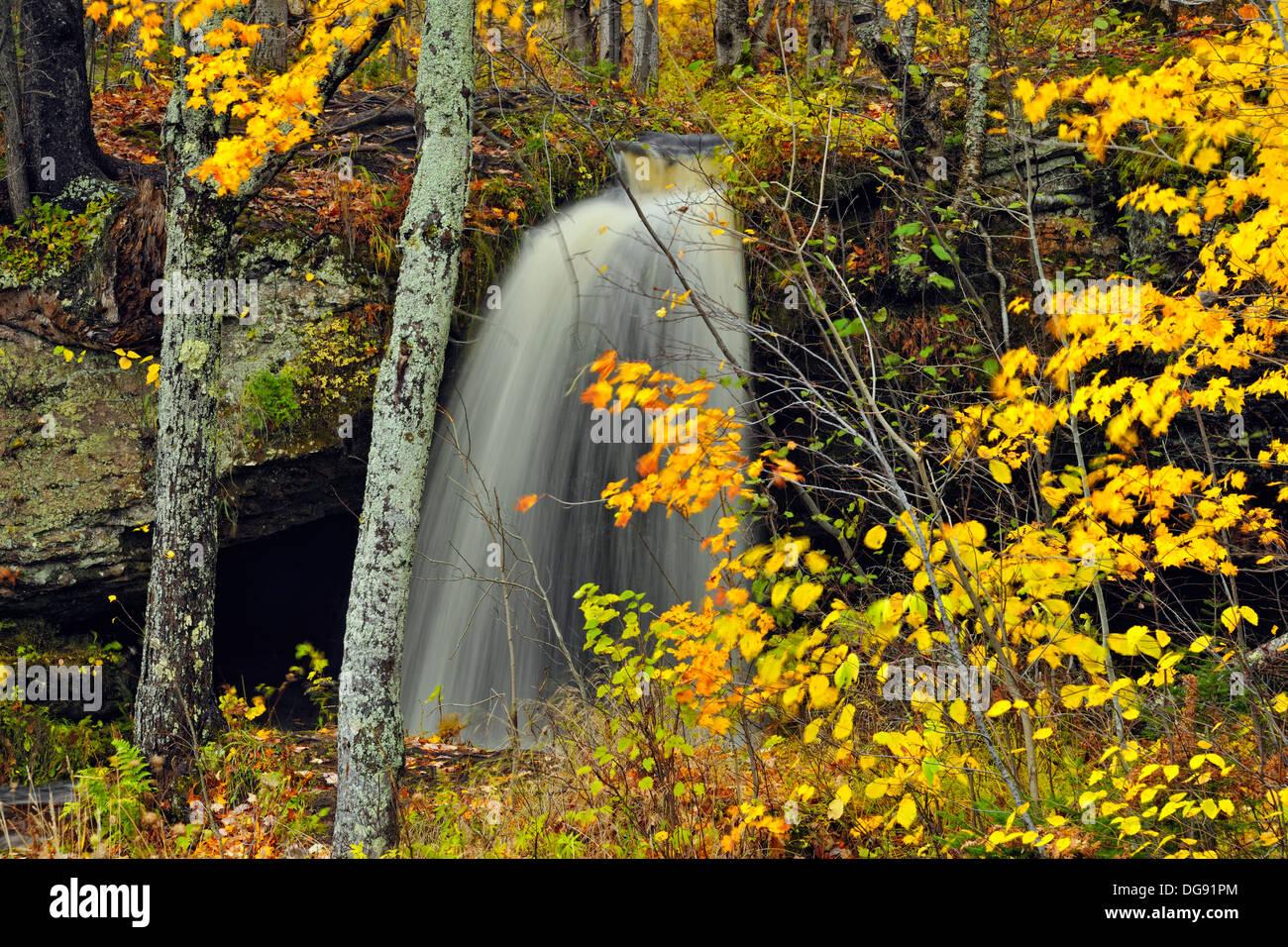 Scott Falls in autumn Au Train Michigan USA Stock Photo