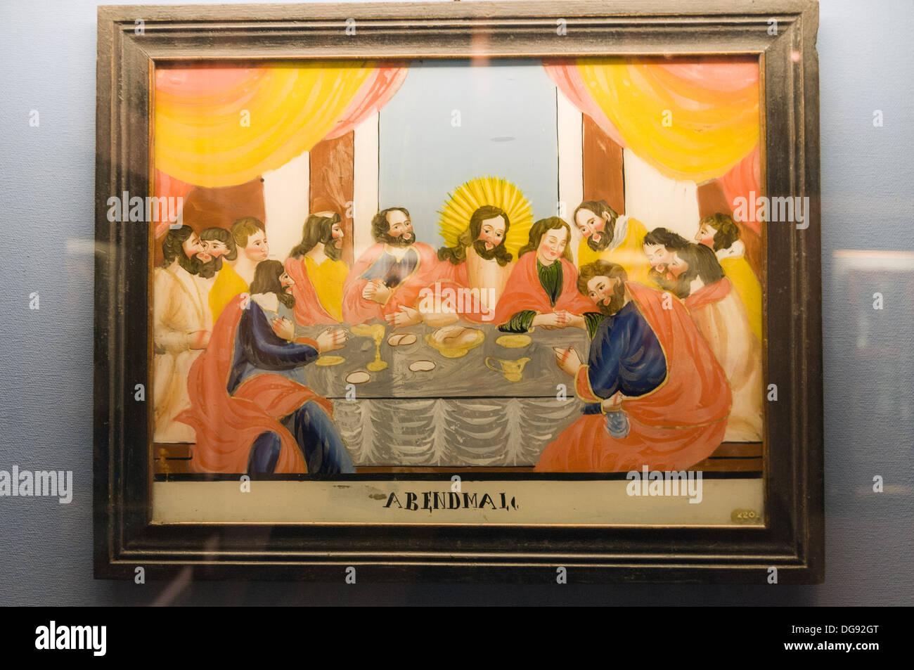Elk213-1351v France, Alsace, Strasbourg, Alsatian Museum, painting - Stock Image