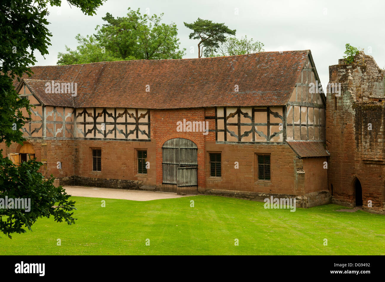 The Stables, Kenilworth Castle, Kenilworth, Warwickshire, England - Stock Image