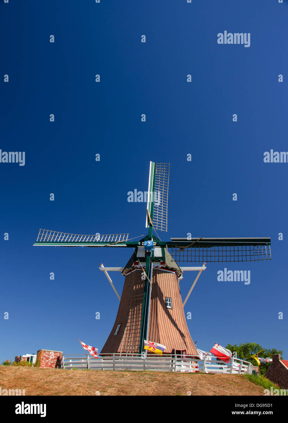 The De Immigrant Windmill in Fulton, Illinois, a town along the Lincoln Highway - Stock Image