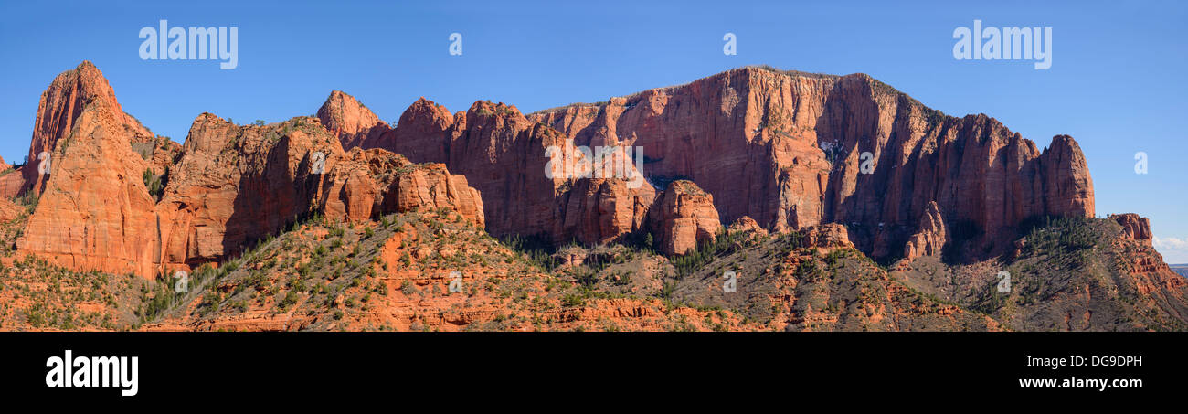 Panoramic view of Kolob Canyons, Zion National Park, Utah, USA - Stock Image