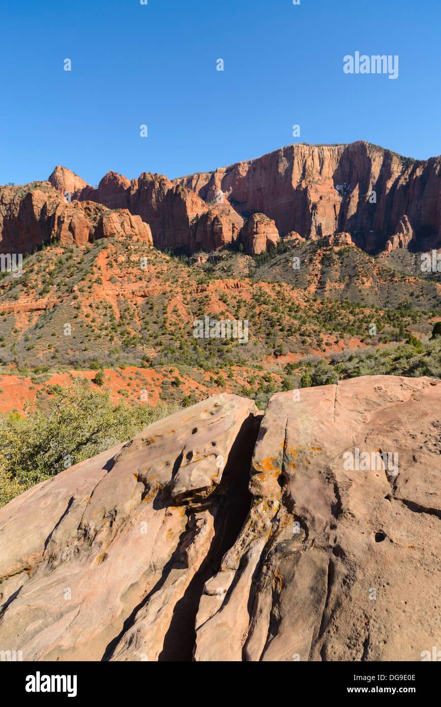 Kolob Canyons, Zion National Park, Utah, USA - Stock Image