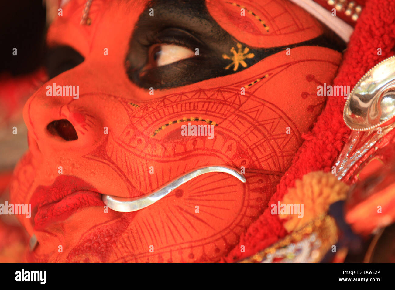 theyyam close up - Stock Image