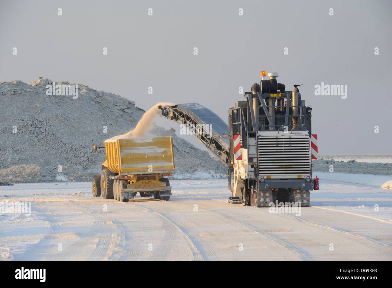 Botswana Ash, Salt Works Stock Photo