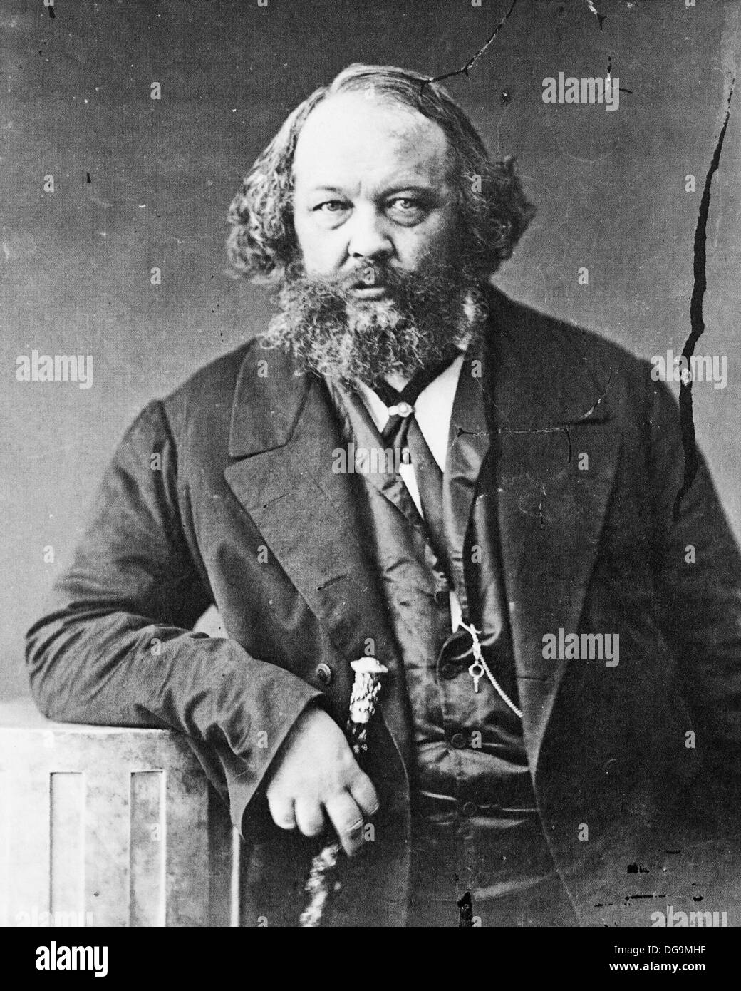 Mikhail Bakunin (1814 - 1876), Russian revolutionary philosopher. Photograph by Nadar - Stock Image