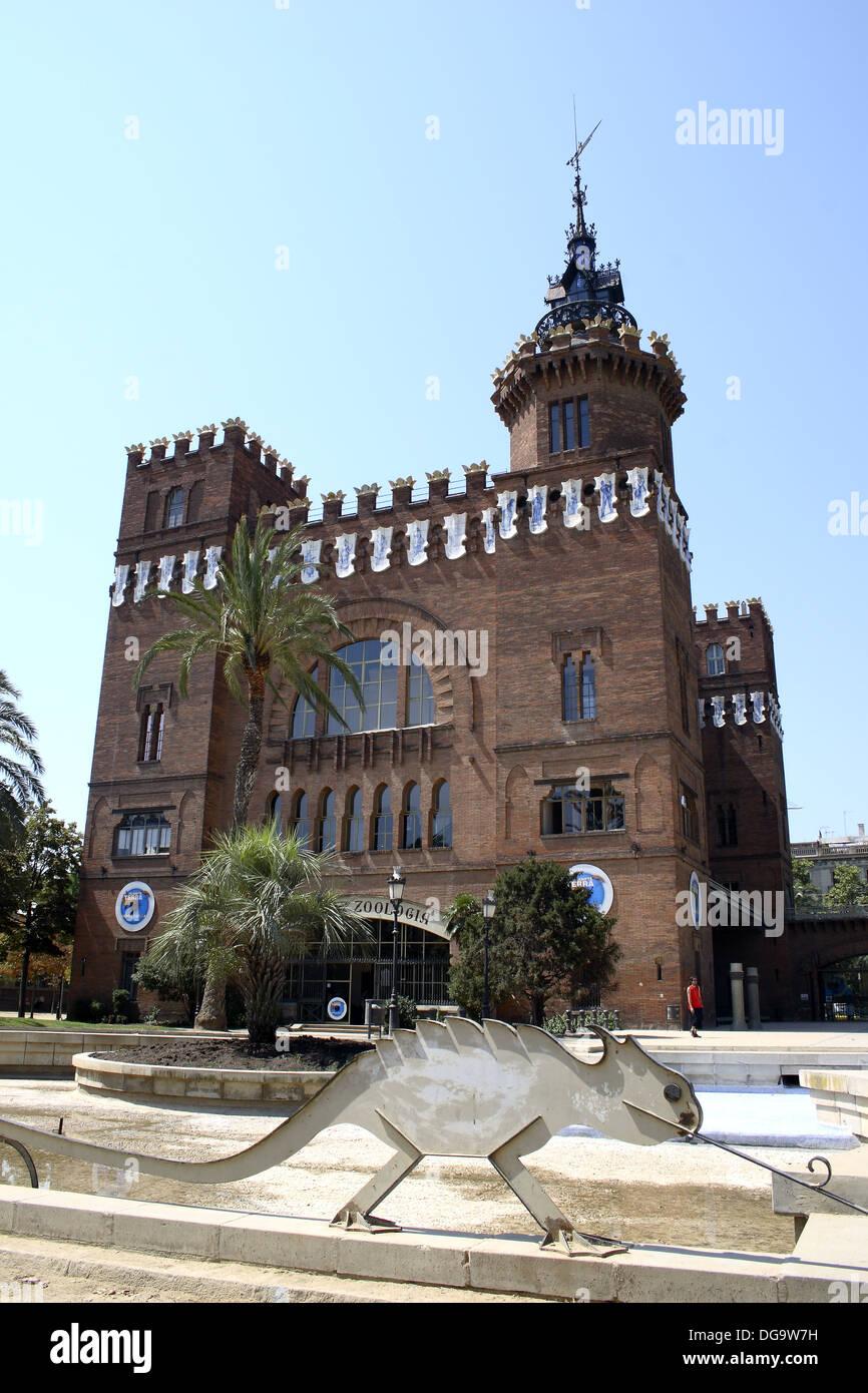 Zoology Museum (XIX c.). Parc de la Ciutadella. By Domenech i Montaner. Barcelona. Spain. - Stock Image