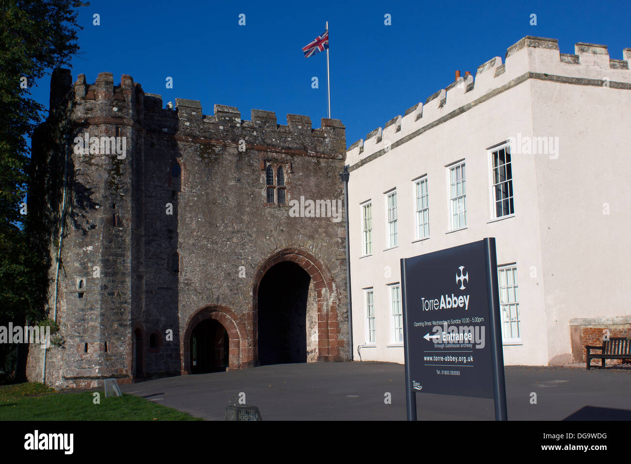Torre Abbey is a historic building and art gallery in Torquay, Devon,  the South West of England.Ancient Scheduled Monument.800 years of Catholicism - Stock Image