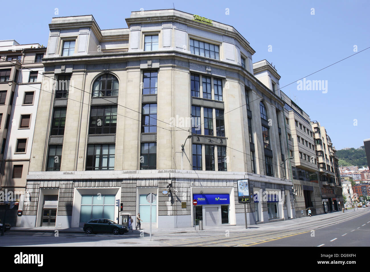 Telefonica (Spanish telecommunication company) building in Calle Buenos Aires, Bilbao. Biscay, Basque Country, Spain - Stock Image