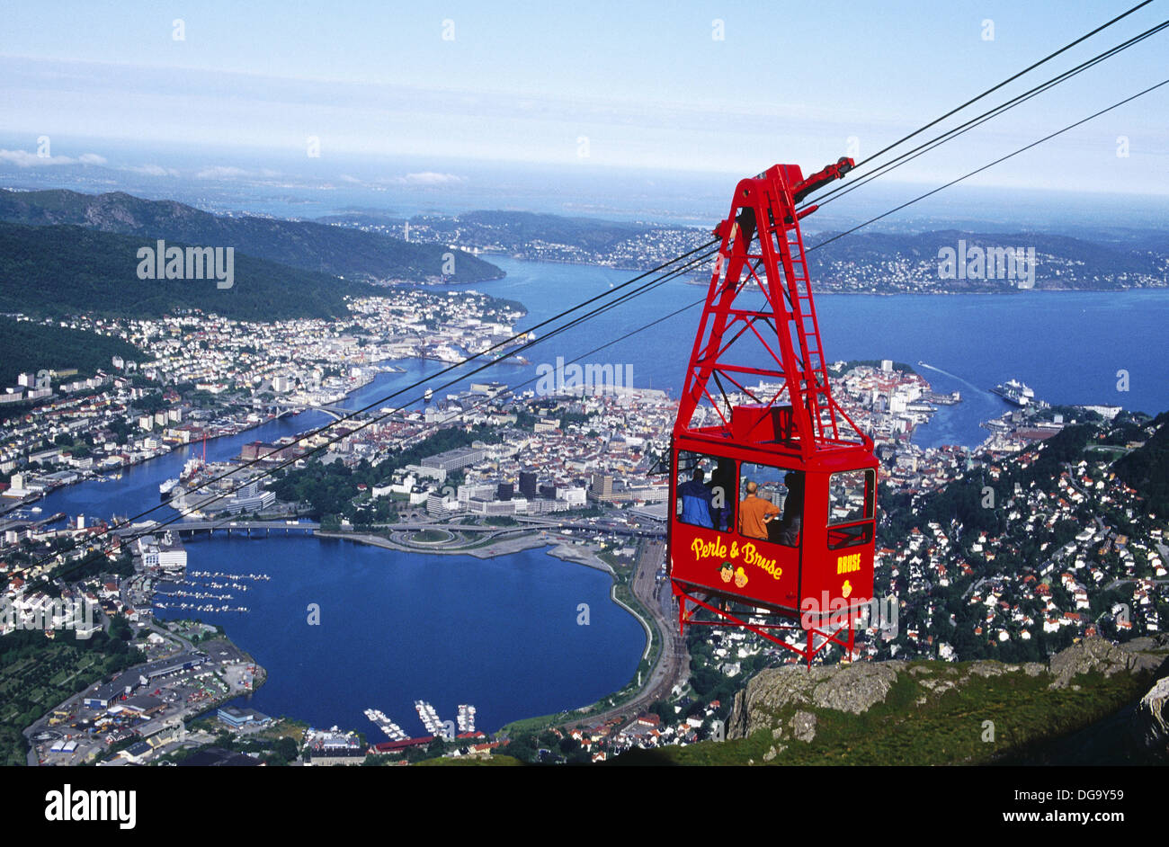 Cable Automotive Oklahoma City : Cable car bergen norway stock photo alamy