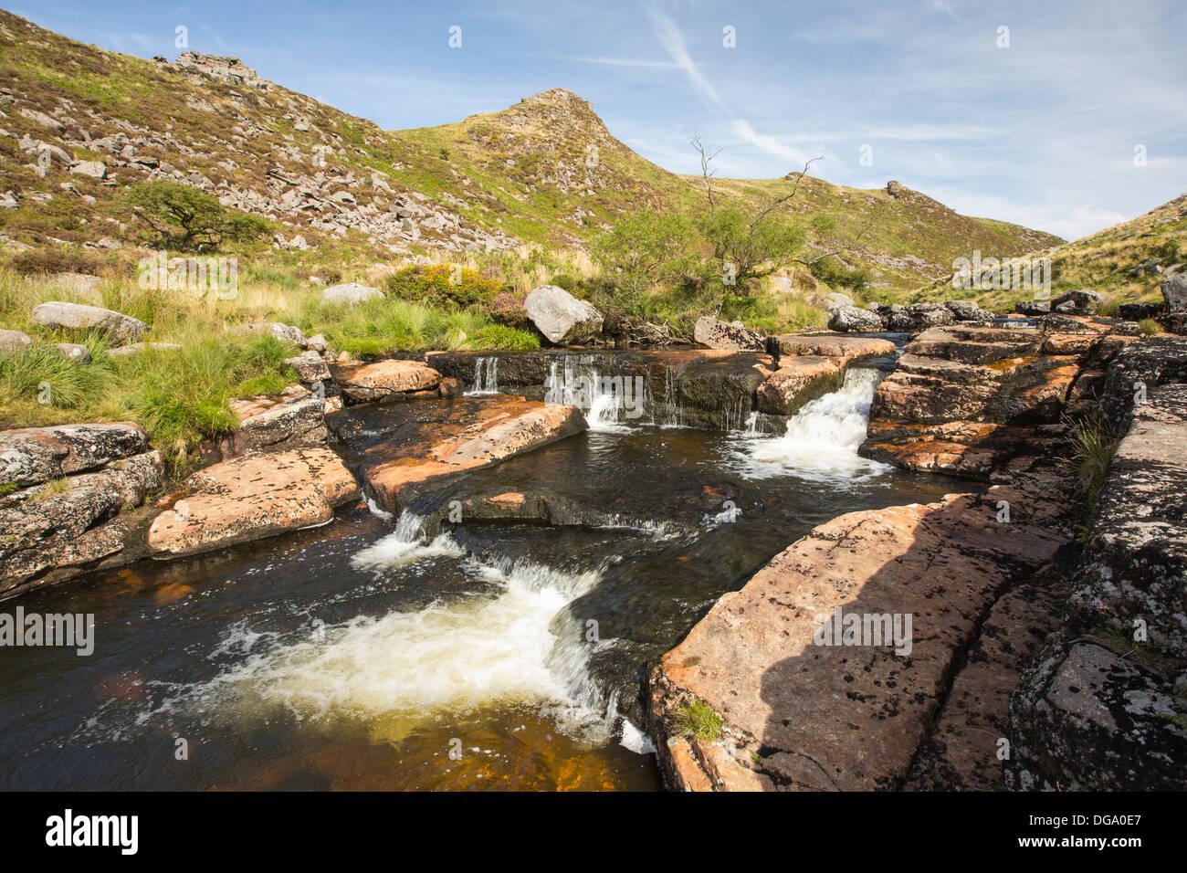 The river Tavy on Dartmoor, Devon, UK. - Stock Image