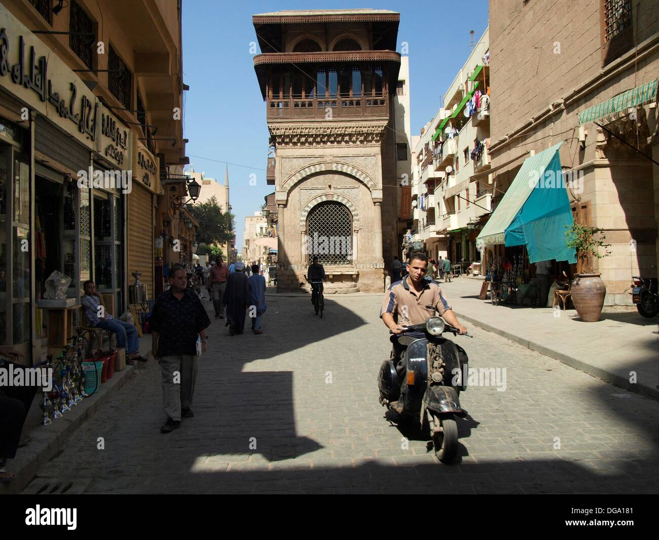 Calle histórica Al Muizz, El Cairo, Egipto - Stock Image
