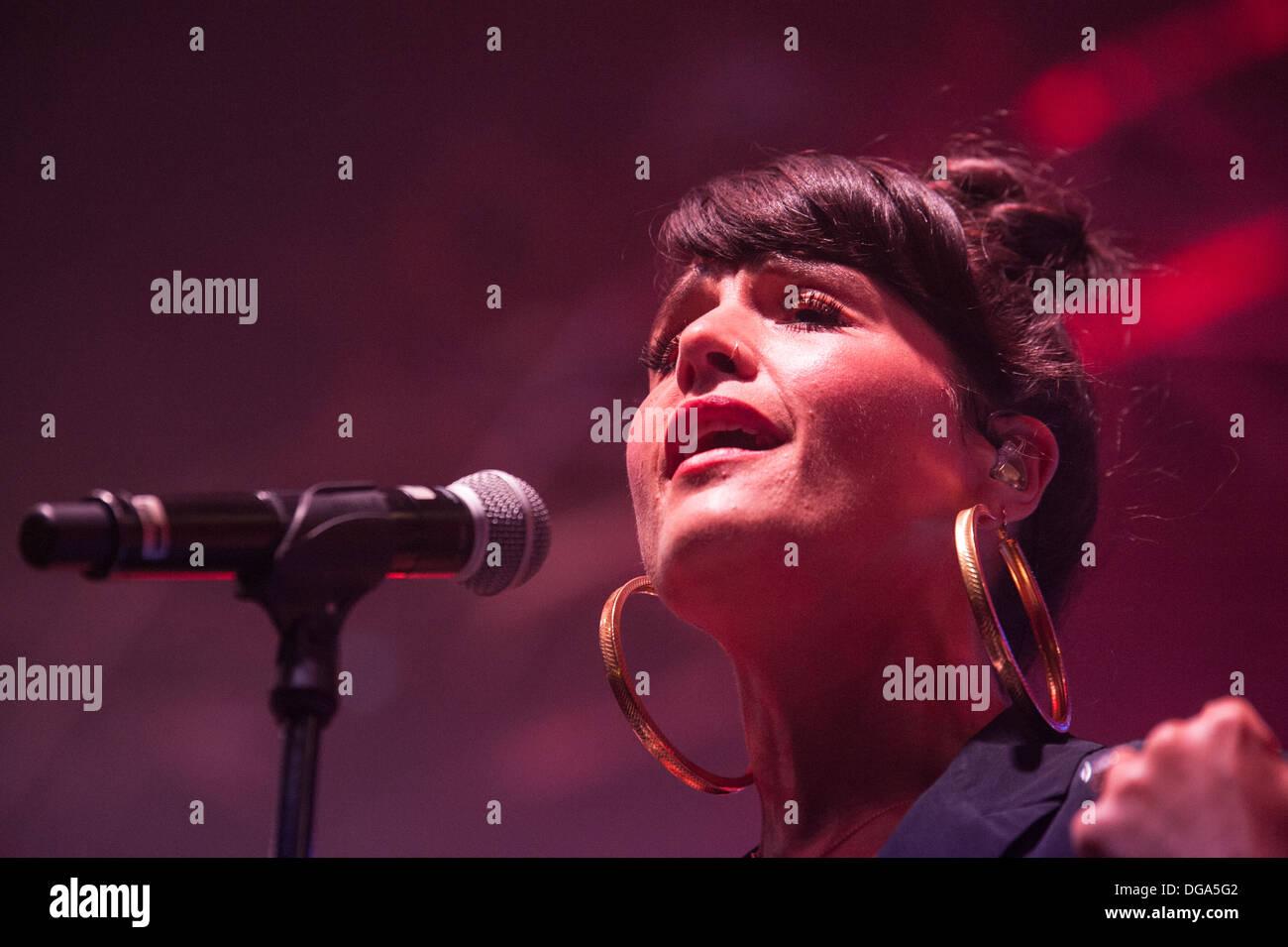 British singer Jessie Ware performs at Zurich Openair Festival 2013. - Stock Image