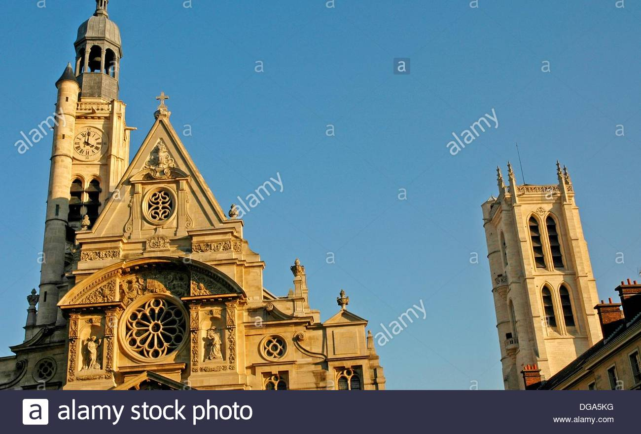 the Sorbonne University  Paris  France Stock Photo